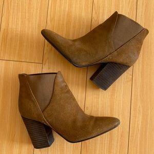 Crown Vintage Shoes - Crown Vintage pointy suede brown ankle boots 7
